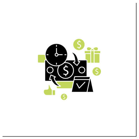 Periodic payment glyph icon