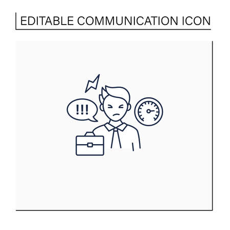 Ineffective communication line icon