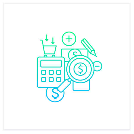 Track spending gradient icon