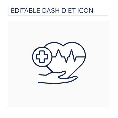 Heart healthy line icon
