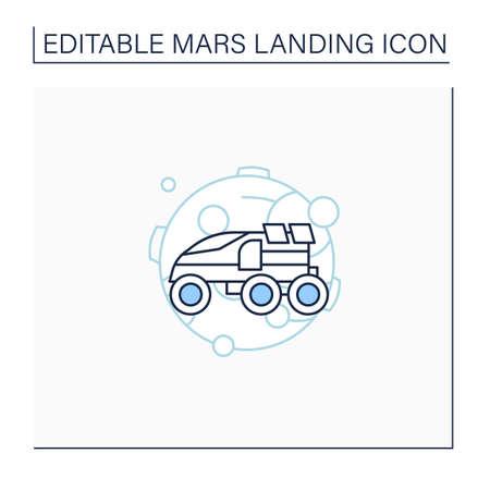 Perseverance rover line icon