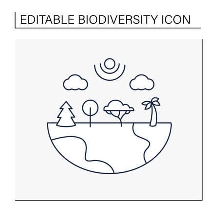 Species diversity line icon
