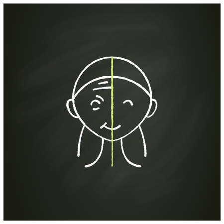 Cosmetic injection chalk icon
