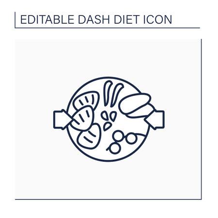 Healthy food line icon