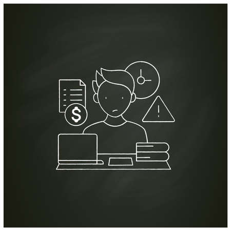 Late payments chalk icon Vetores