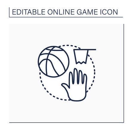 Team sports game line icon