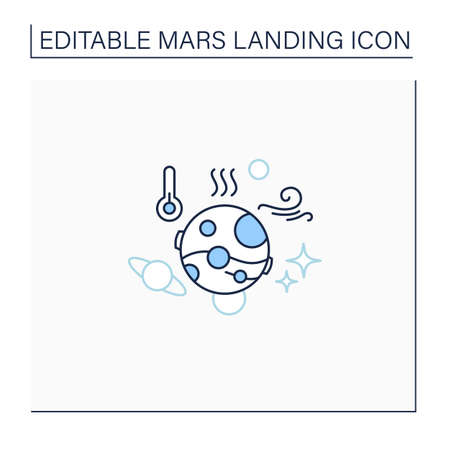 Mars climate line icon