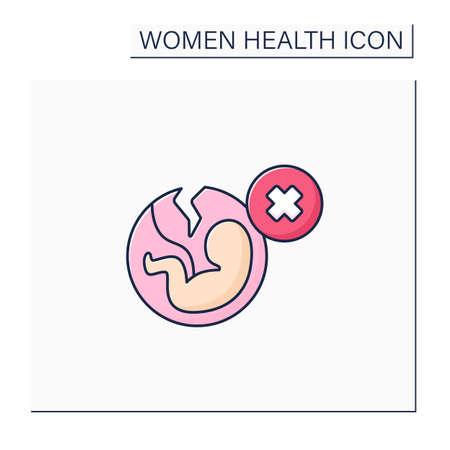 Abortion color icon