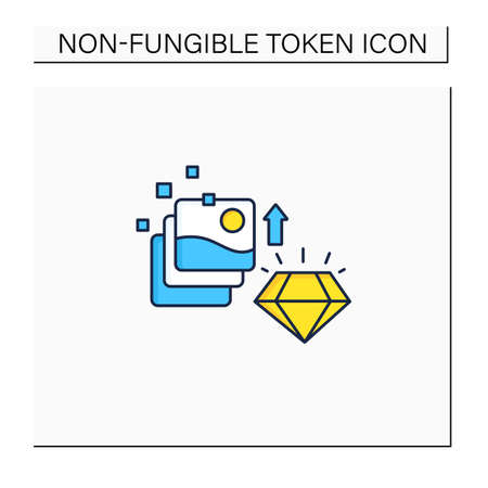 Digital art color icon