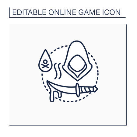 Stealth games line icon