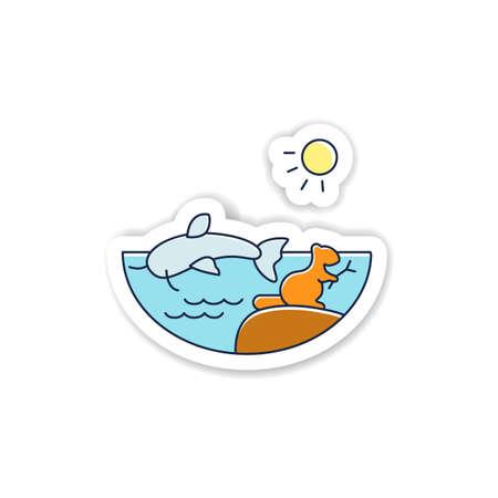 Freshwater sticker icon