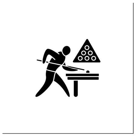 Snooker glyph icon