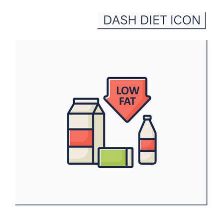 Low-fat color icon