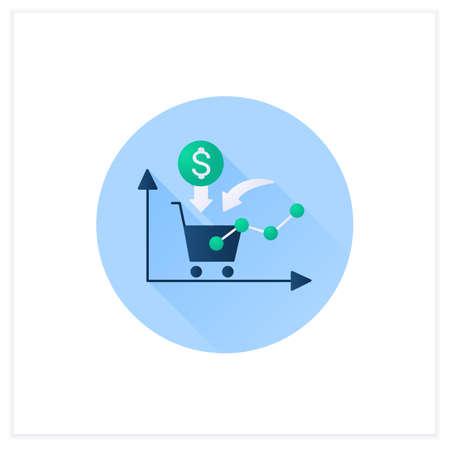 Growth consumer demand flat icon