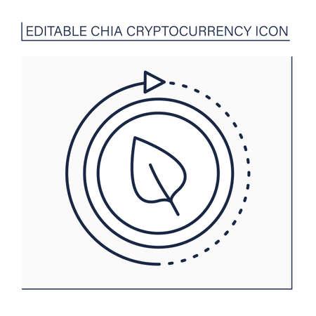 Install chia line icon Ilustración de vector
