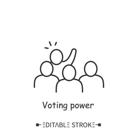 Voting power icon. Editable vector illustration Vecteurs