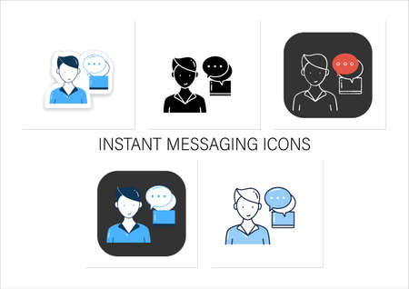 Instant messaging icons set