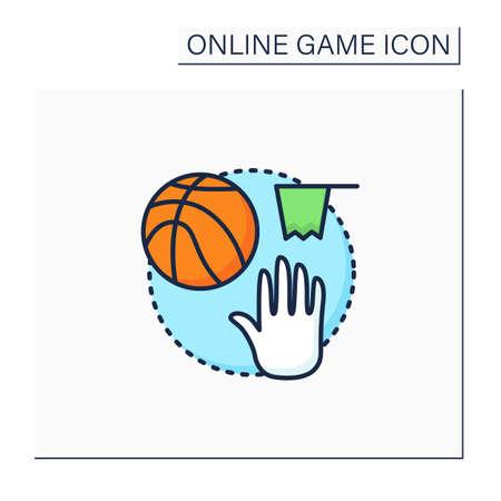 Team sports game color icon Vetores