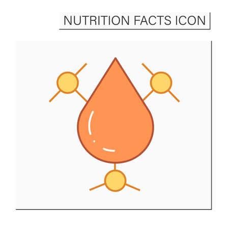 Trans fat color icon Vetores