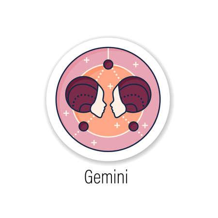 Gemini sticker icon Vektorové ilustrace