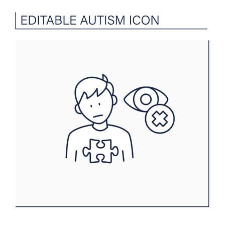 Neurodevelopmental disorder line icon