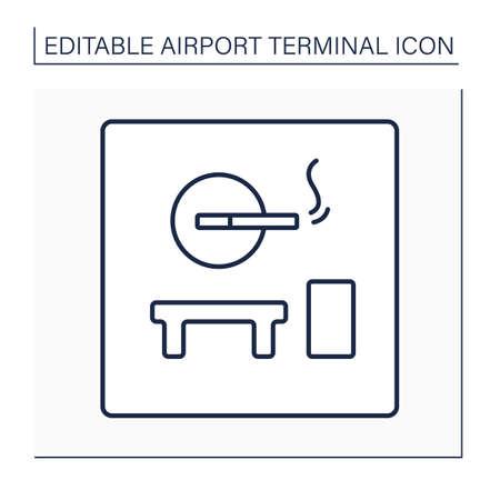 Smoking room line icon