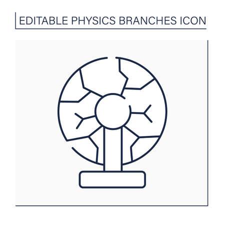 Plasma physics line icon