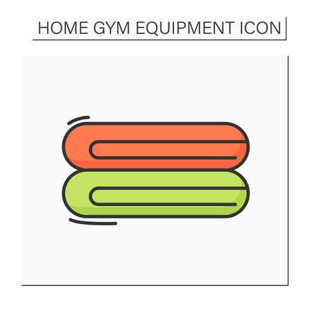 Towel color icon Ilustracje wektorowe