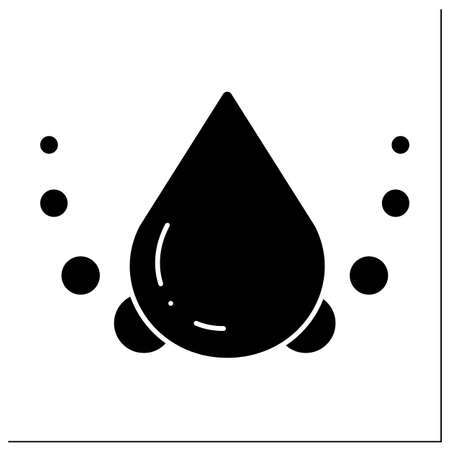 Saturated fat glyph icon