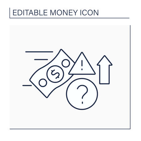 Speculate line icon.