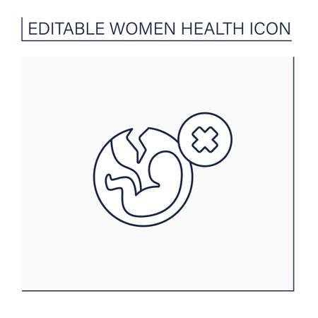 Abortion line icon
