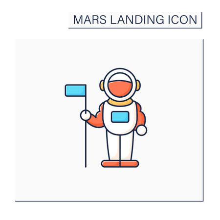 Astronaut color icon