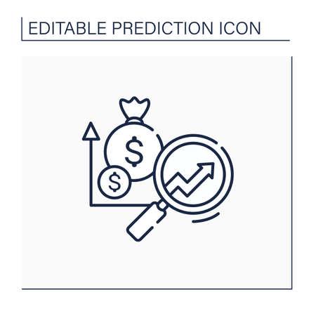 Marketing predictive analytics line icon