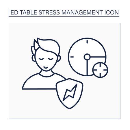 Relieve stress line icon