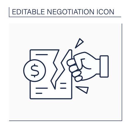 Deal breaker line icon
