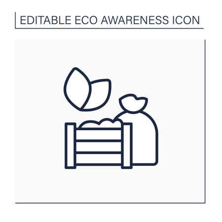 Compost line icon