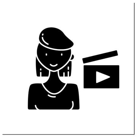 Film director glyph icon