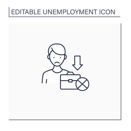 Jobless line icon