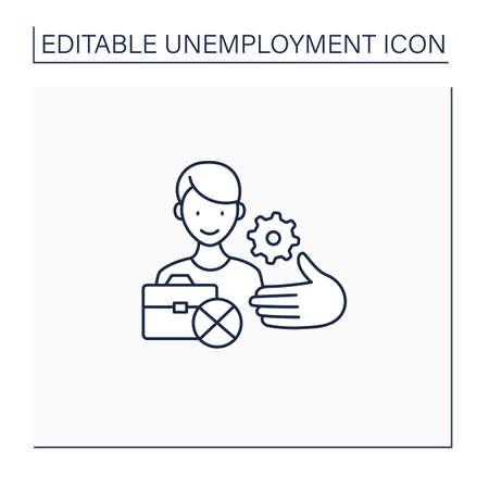 Unemployment services line icon
