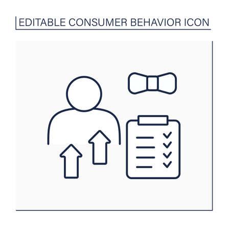 Personal characteristic line icon Ilustración de vector