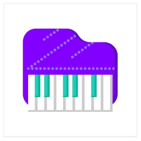 Piano flat icon Vector Illustration