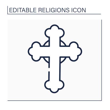 Christianity line icon
