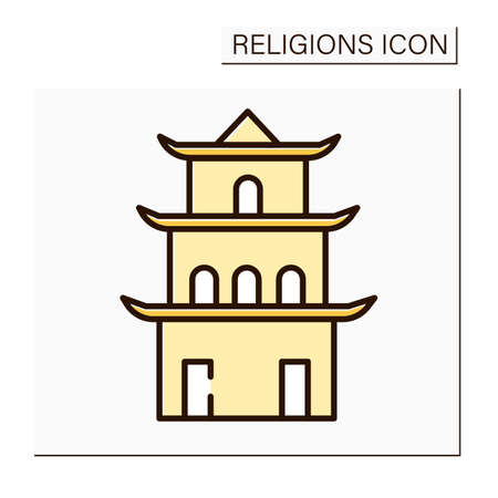 Taoism color icon Vector Illustration
