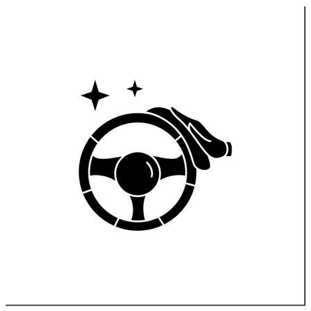 Car disinfection glyph icon