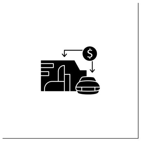 Asset value glyph icon