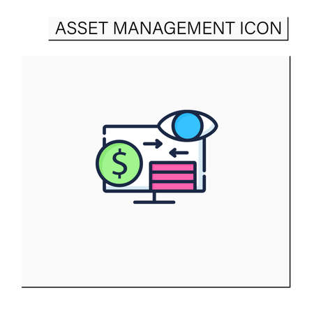 Assets monitoring color icon
