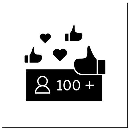 Unpopular blogger glyph icon