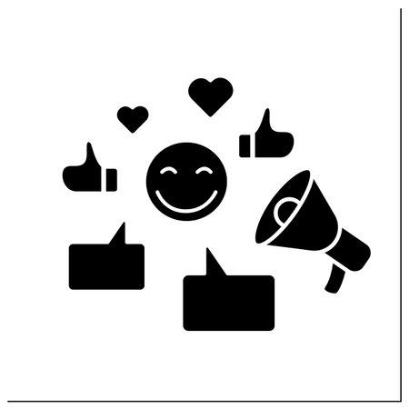 Influencer glyph icon