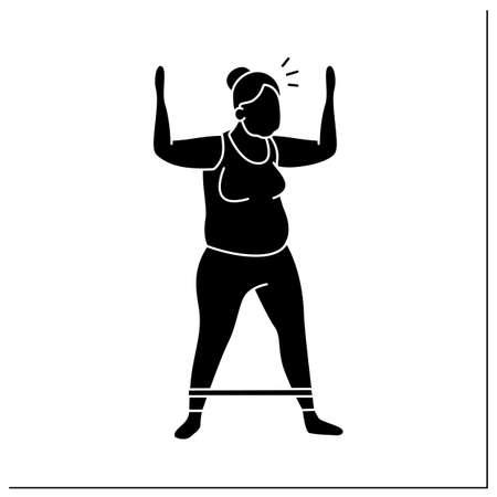 Training glyph icon