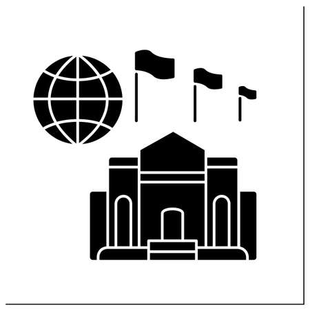 High commission glyph icon